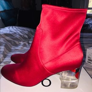 Aldo Red Booties Frigowien- Brand New!!